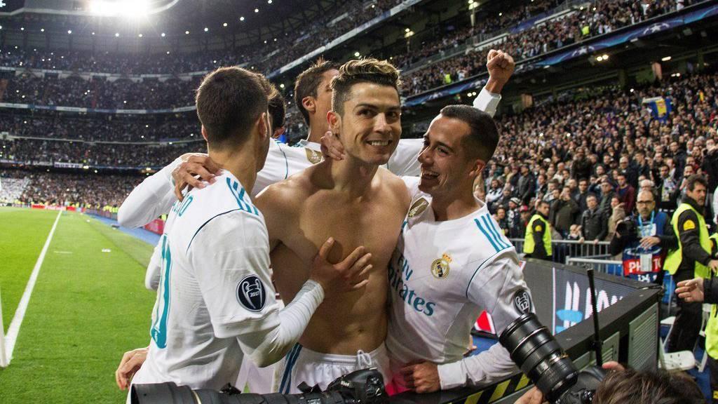 Cristiano Ronaldo (Real Madrid) freut sich am Mittwoch über das 3:1 gegen Juventus.