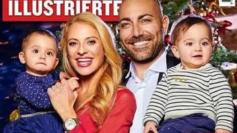 Christa Rigozzi, ihr Mann Giovanni und die pflegeleichten Töchter Alissa und Zoe feiern erstmals gemeinsam Weihnachten. (Twitter)