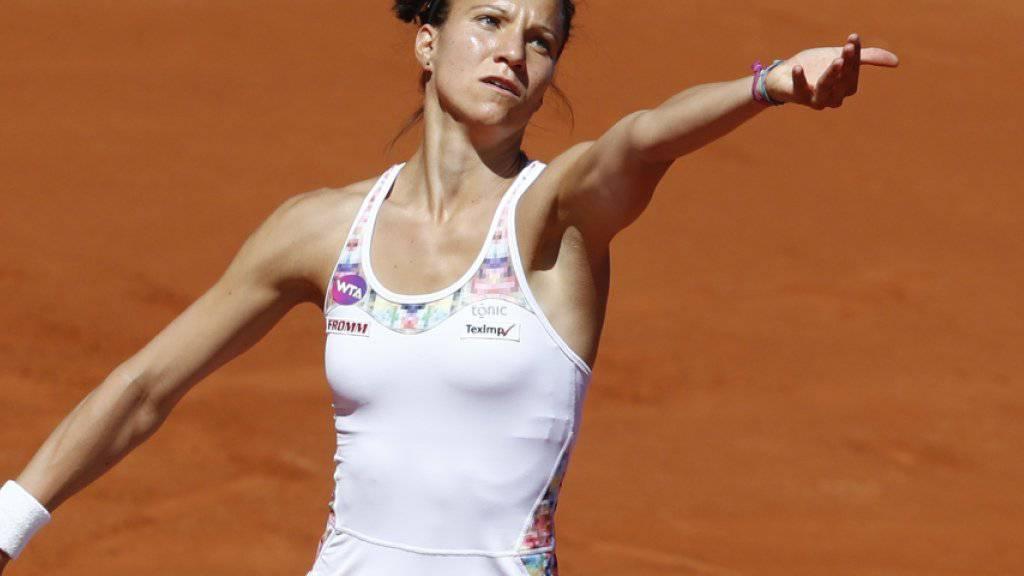 Zollte in der zweiten Runde von Bastad den vielen Einsätzen innert einer Woche Tribut: Viktorija Golubic