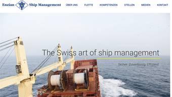 «Sicher. Zuverlässig. Effizient.» steht auf enzian-shipping.com. Nur: Die Frachter sind längst verkauft.