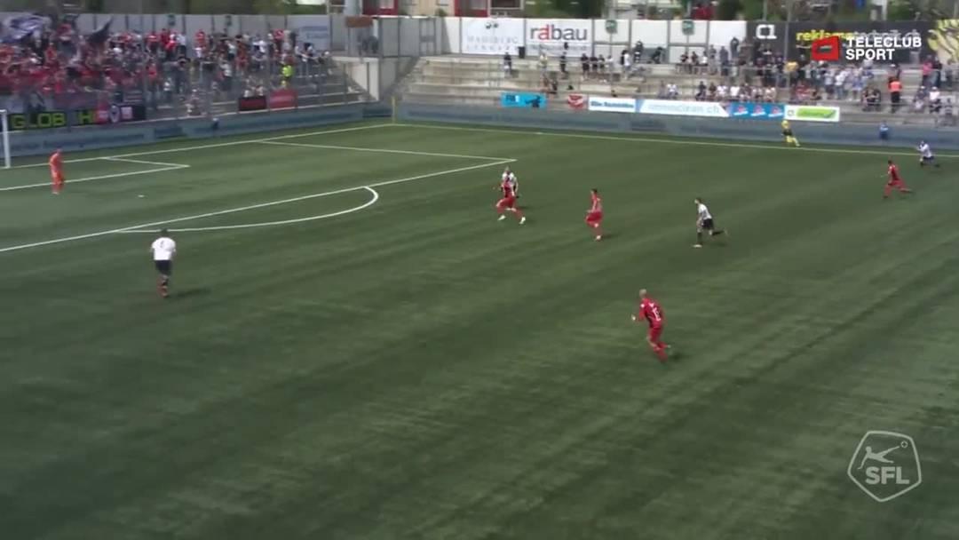 4. Minute: Nur eine Minute später darf dann Varol Tasar den Ball endlich wieder einmal im Netz versenken.