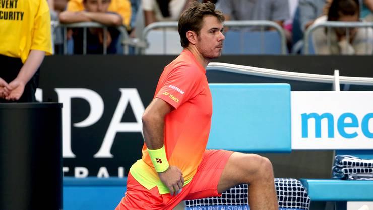 Stan Wawrinka führt das modische Must-have der Australian Open vor: Orange. Am besten Neon. In Kombination mit Gelb.