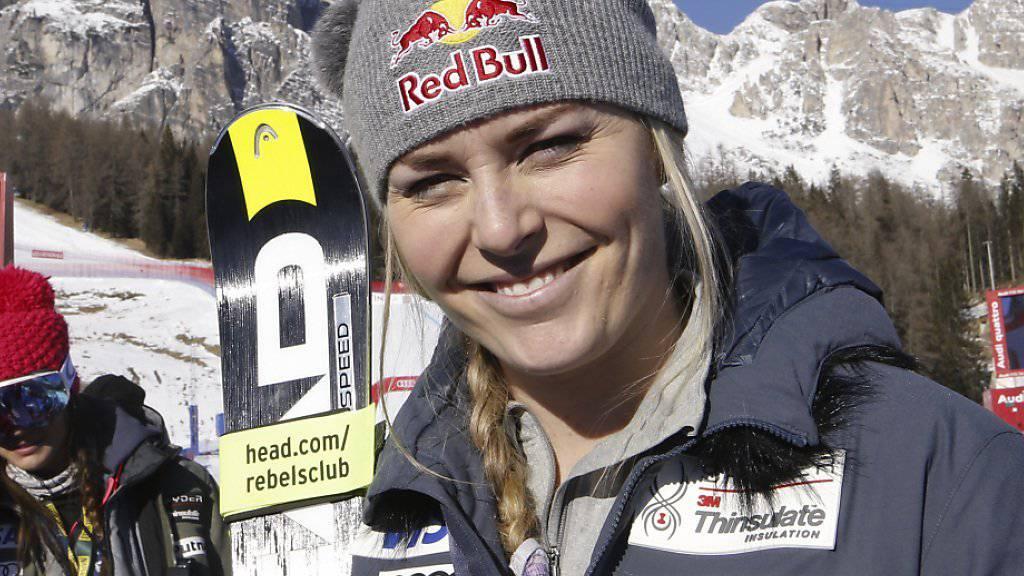 Lindsey Vonn war auch im zweiten Training die Schnellste