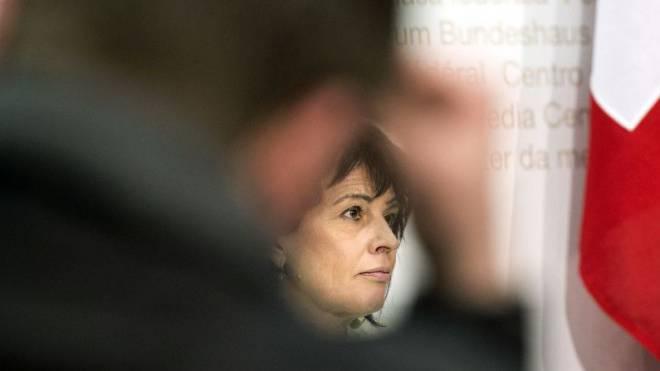 Doris Leuthard gilt als SRG-freundlich – in ihrer Partei wächst die Kritk. Foto: Keystone