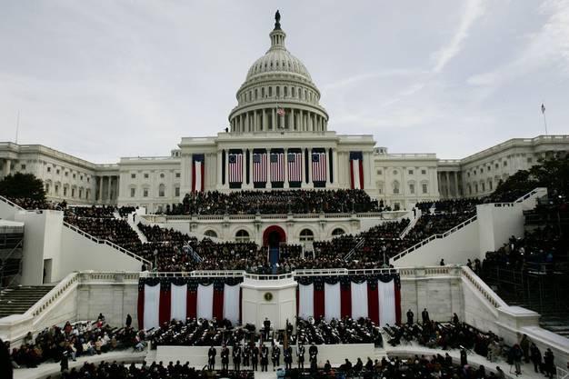 Das US-Kapitol bei der Vereidigung von George W. Bush im Jahr 2005.
