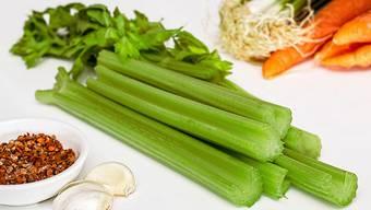Wenig Kalorien und äusserst gesund: Stangensellerie.