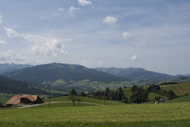 Blick ins Fribourger-Land.