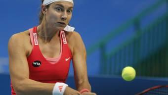 Steht zum zweiten Mal in diesem Jahr bei einem WTA-Turnier im Viertelfinal: Stefanie Vögele