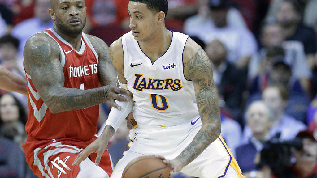 Bester Werfer für die Los Angeles Lakers in Houston: Kyle Kuzma.