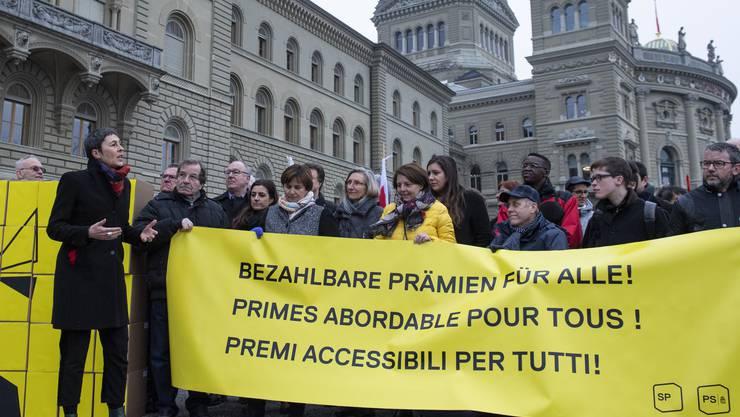 Die Initianten bei der Einreichung der Unterschriften im Januar in Bern.