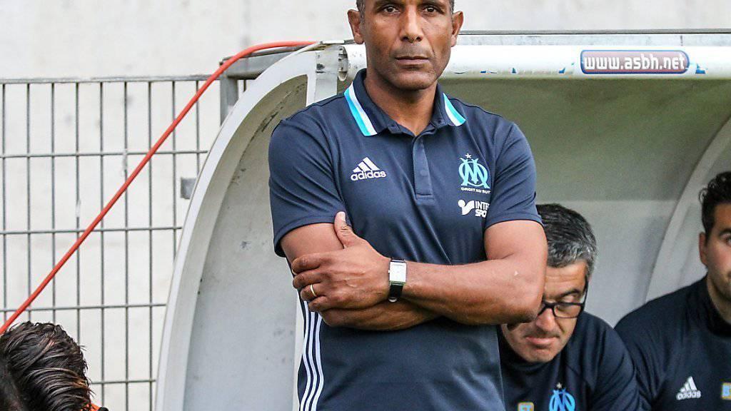 Trainer Franck Passi kann aufatmen - Olympique Marseille hat mit dem Amerikaner Frank McCourt einen neuen Eigentümer gefunden