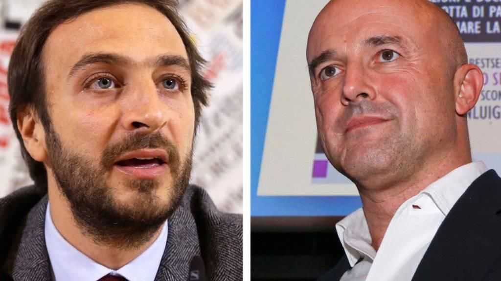 Die Journalisten Emiliano Fittipaldi (links) und Gianluigi Nuzzi müssen sich ab Dienstag vor einem vatikanischen Gericht verantworten. (Archiv)