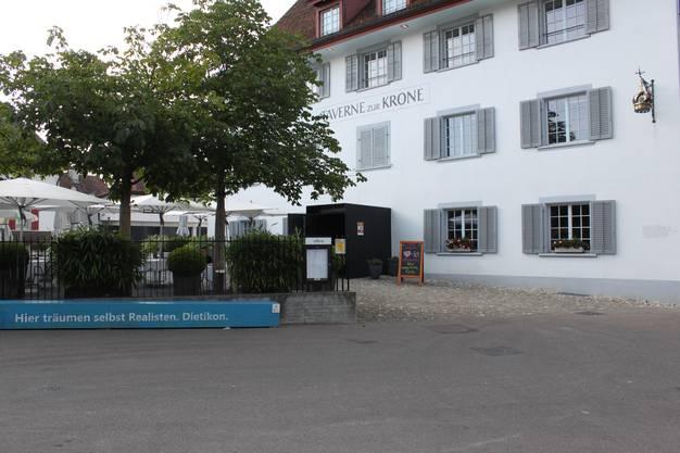 """Vor zehn Jahren wurde das Restaurant """"Taverne zur Krone"""" auf dem Kronenplatz umgebaut."""