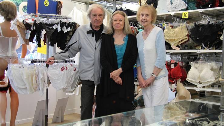 Pietro Fornara, Minouche Chamberland und Katharina Schürch verbrachten Jahrzehnte im Familienbetrieb.