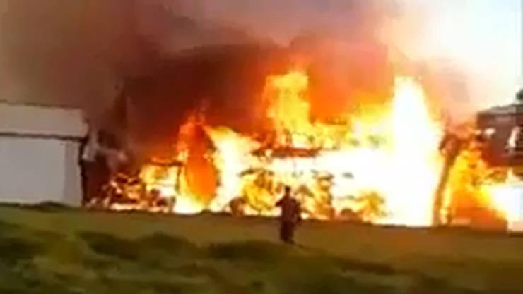 Grossbrand in Nestle-Fabrik in Damaskus.