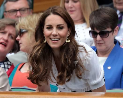 Herzogin Kate verfolgte Federers Match von der Royal Box aus.