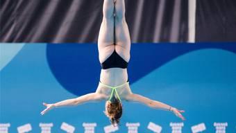 Konzentriert bis in die Zehenspitzen: Michelle Heimberg im letzten Oktober anlässlich der Jugend-Olympiade in Buenos Aires.