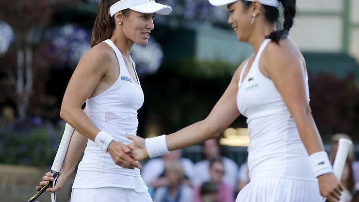Können sich zum Halbfinal-Einzug am US Open gratulieren: Martina Hingis und Chan Yung-Jan (Archivbild)