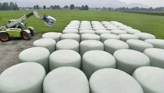 Folien aus Polyethylen, mit denen zum Beispiel Bauern Silage oder Heu abdecken, sollten nach Möglichkeit rezykliert werden.