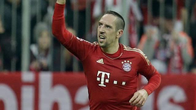 Franck Ribéry brachte die Bayern kurz vor der Pause in Führung.