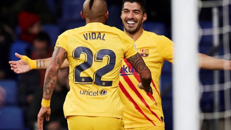 Der FC Barcelona (hier Arturo Vidal und Luis Suarez) ist nicht nur auf dem Rasen erfolgreich