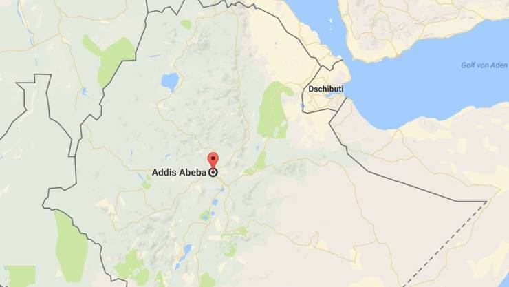 Von Äthiopiens Hauptstadt Addis Abeba führt eine neue Eisenbahnlinie direkt nach Dschibuti. (Bild googlemaps)