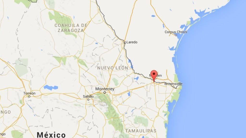 In der Stadt Reynosa an der Grenze zwischen Mexiko und den USA sterben bei einer Polizeioperation gegen kriminelle Banden zehn Personen. (Bild googlemaps)