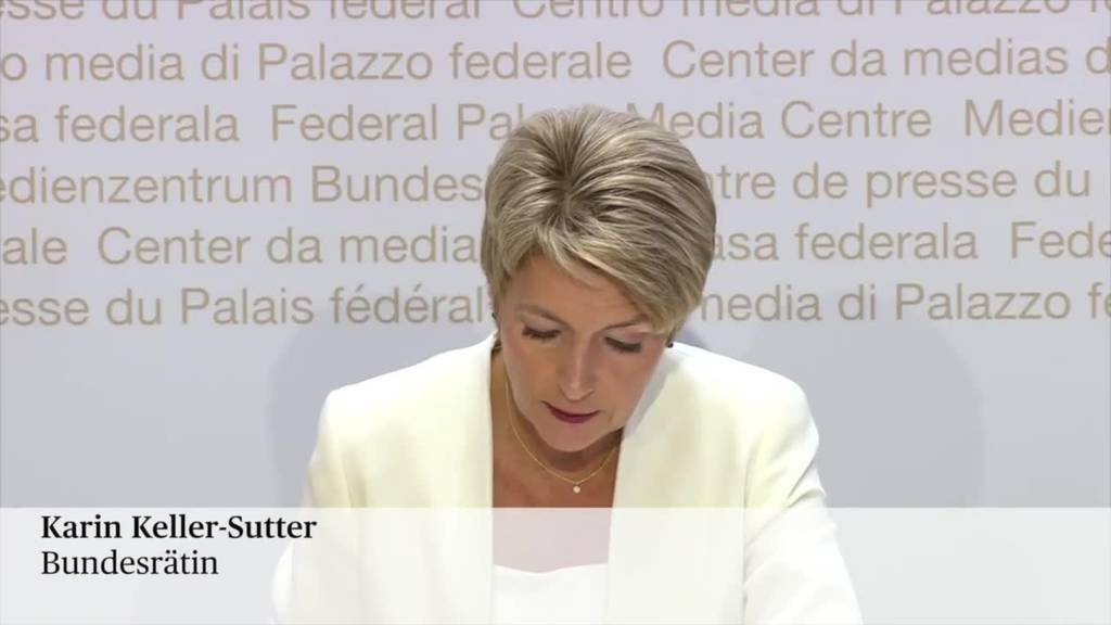 Karin Keller-Sutter: «Die Unternehmen brauchen keine riskanten Experimente»