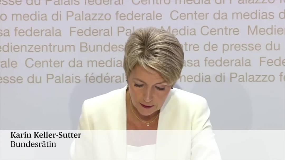 """Karin Keller-Sutter: """"Die Unternehmen brauchen keine riskanten Experimente"""""""