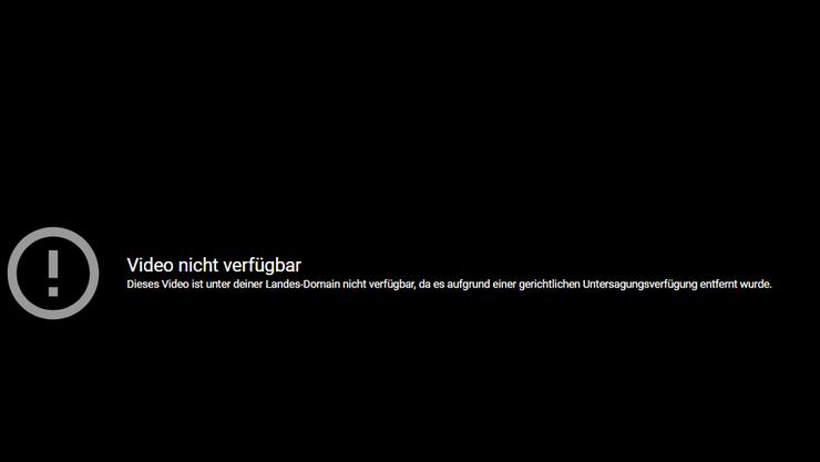 Endstation: Das Video einer ehemaligen Lokalangestellten der Schweizer Botschaft in Moskau ist für hiesige Nutzer gesperrt. (Screenshot YouTube)