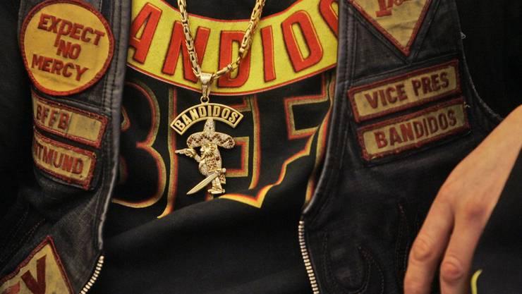 Mitglied der Motorrad-Gang Bandidos.