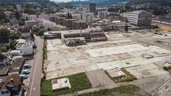 Torfeld Süd: Gut erkennbar sind das GastroSocial-Hochhaus und das Aeschbachquartier sowie die Stadion-Brache. Bild: Chris Iseli
