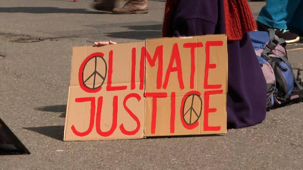 Klimastreiks in der ganzen Schweiz: «Netto Null bis 2030» – Polizei muss intervenieren