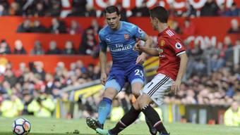 Granit Xhaka führte Arsenal gegen Manchester United als Captain auf das Feld