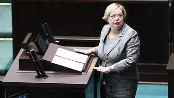 """Polens oberste Richterin Malgorzata Gersdorf  will nicht den Hut nehmen. Sie sprach von einer """"Säuberung"""" am Obersten Gericht durch die nationalkonservative Regierung.(Archivbild)"""