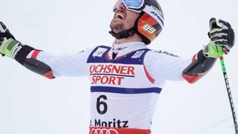 Marcel Hirscher - den Blick zum Himmel gewandt