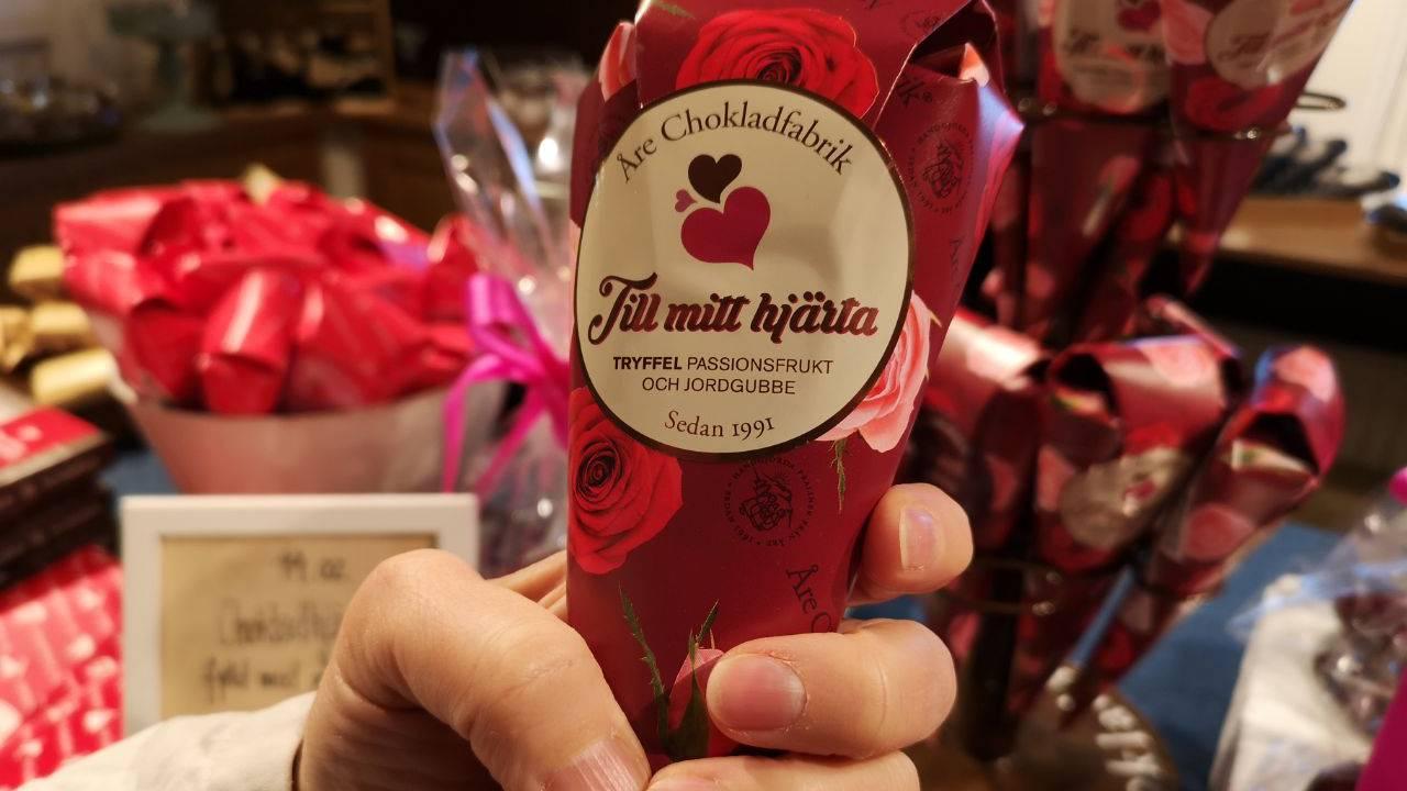Schwedische Liebes-Pralinés anlässlich des Valentinstages. Liebe geht ja bekanntlich durch den Magen. (© Jonathan Schoeffel)