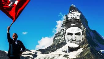 «Mount Federer»: Roger Federer ragt bei den Tennis-Rekorden in die Höhe wie das Matterhorn.