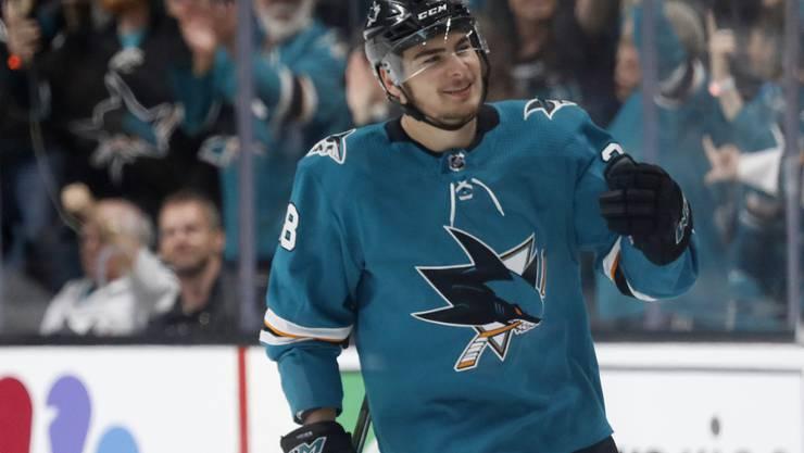Timo Meier soll sich mit den San Jose Sharks über einen Vierjahresvertrag bis 2023 geeinigt haben
