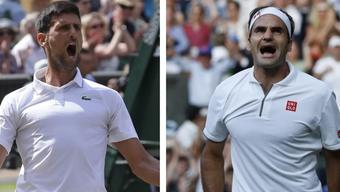Novak Djokovic vs. Roger Federer: Die 48. Auflage folgt in Wimbledon.