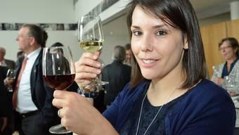 Die gebürtige Aescherin Sabrina Corvini bevorzugt Weisswein – und «grundsätzlich Wein aus Aesch», wie sie an der Degustation nach der Landratssitzung verriet.