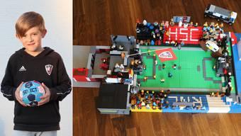 Der 9-jährige HSC-Fan Nik vermisst den Handball so sehr, dass er ein Lego-Modell der Schachenhalle gebaut hat und darin die Geschichte einer fiktiven Partie erzählt.