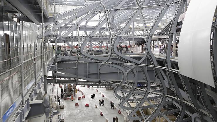 """Das spektakuläre Kongresszentrum """"La Nuvola"""" in Rom - hier 2014 noch im Rohzustand - wird am Samstag eingeweiht. (Archivbild)"""