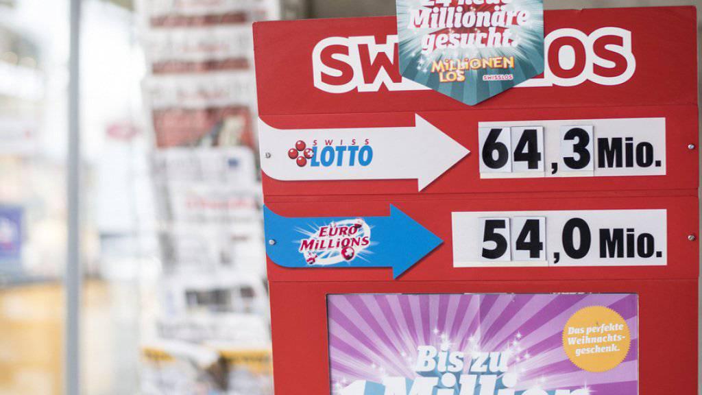 Der Rekord-Jackpot von 64,3 Millionen Franken hat nach wie vor keinen Besitzer. Damit ist das Spiel zum 48. Mal ohne Hauptgewinn ausgegangen. (Symbolbild)