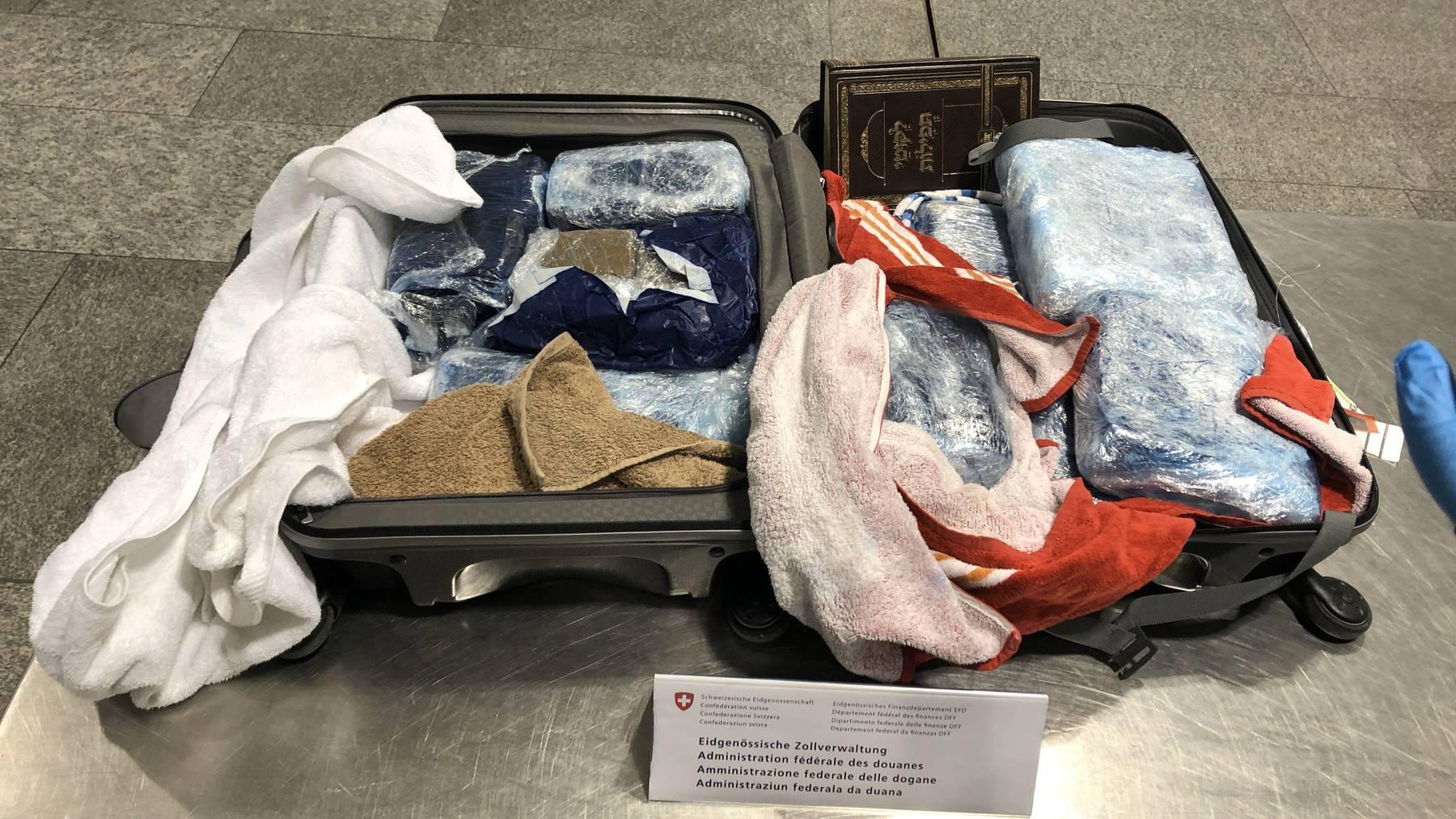 Koffer mit Haschisch