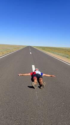 Die langen, geraden Strecken in der Mongolei faszinierten.