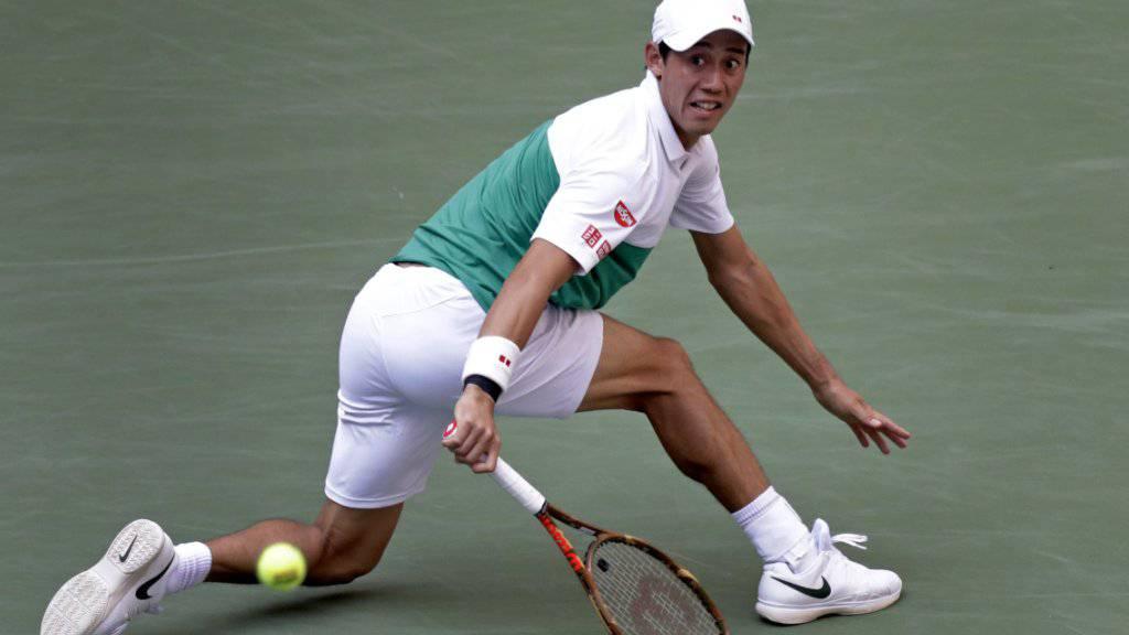 Kei Nishikori erreicht zum dritten Mal nach 2014 und 2016 die Halbfinals am US Open in New York