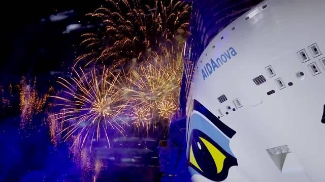 25000 Kreuzfahrt-Fans (und David Guetta) taufen AIDAnova