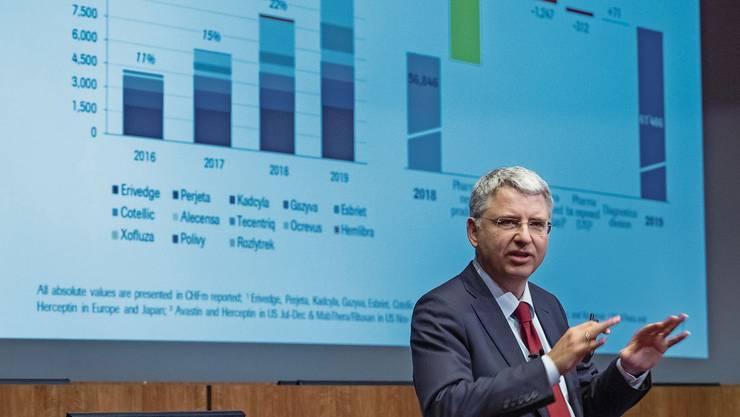Roche-Chef Severin Schwan kann vor allem dank neuer Medikamente starke Jahreszahlen präsentieren.
