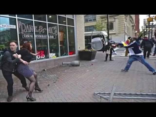 Heftige Proteste: Augenzeugenvideos aus Baltimore.